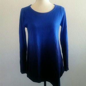 Motherhood Maternity blue dye sweater small